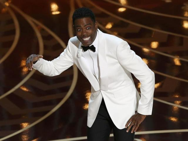 Comedian Chris Rock hosts the 88th Academy Awards in Hollywood, California February 28, 2016.