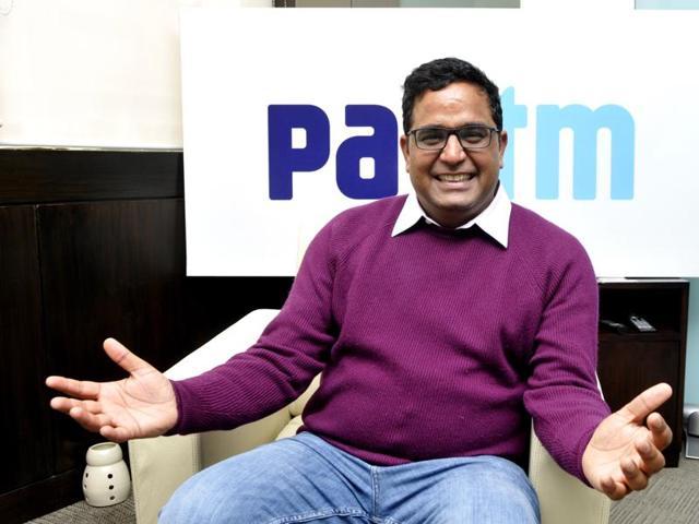 CEO of Paytm, Vijay Shekhar Sharma at his office.