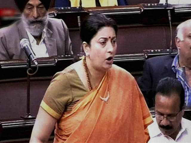 "Opposition members were on their feet seeking to know the status of their notices against Irani for ""misleading"" the House on the Rohith Vemula issue."