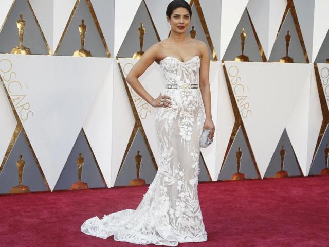 In pics: Priyanka Chopra stuns in a bold and beautiful Oscar number