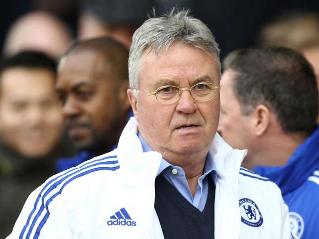Chelsea's Dutch interim manager Guus Hiddink arrives for the English Premier League football match between Southampton and Chelsea.