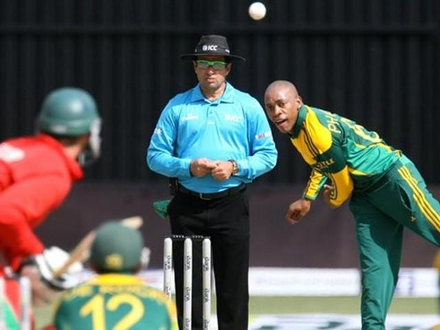Aaron Phangiso's bowling action was found to be illegal by the ICC's testing laboratory.
