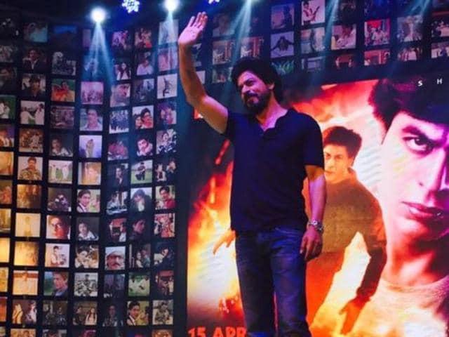 SRKwill be seen in a double role in Fan. (Twitter)