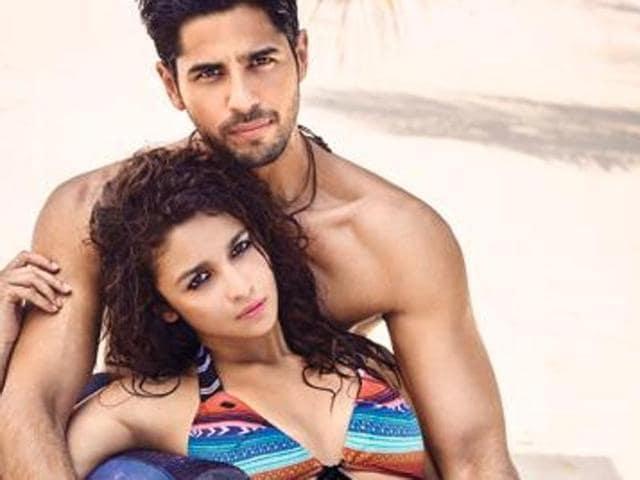Alia Bhatt and Sidharth Malhotra pose together.