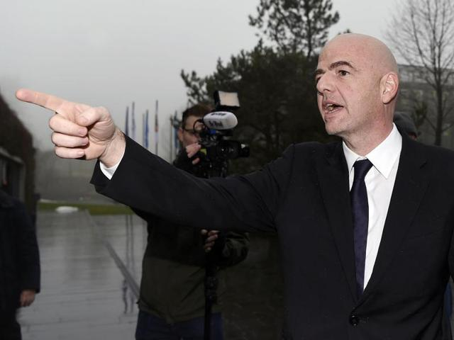 Newly elected Fifa President Gianni Infantino (in pic) has only been in charge of the scandal-hit  organisation for a day, but Palermo president Maurizio Zamparini  claims that Infatino 'bought  ' votes.
