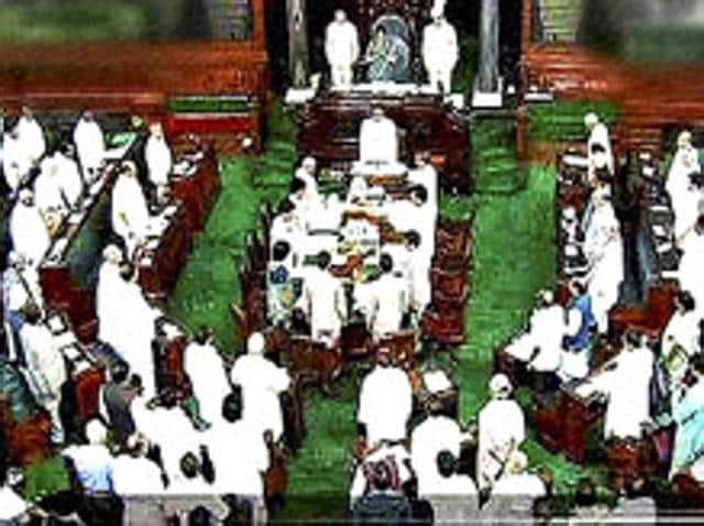 MPs stand for national anthem in the Lok Sabha on the first day of the monsoon session