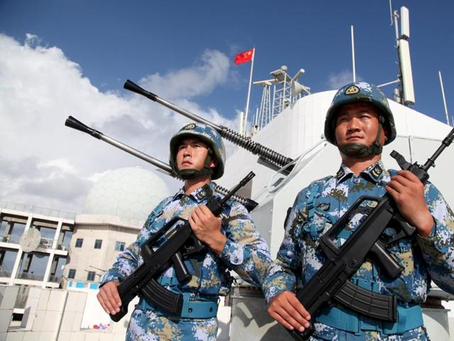 China's navy has built a self-propelled floating dock that can repair damaged ships at sea, the People's Liberation Army daily said on Tuesday . Designed to be sent into combat zones, the Huachuan No. 1 can apparently handle cruisers, destroyers and submarines, and cope with waves up to 6 ft high.