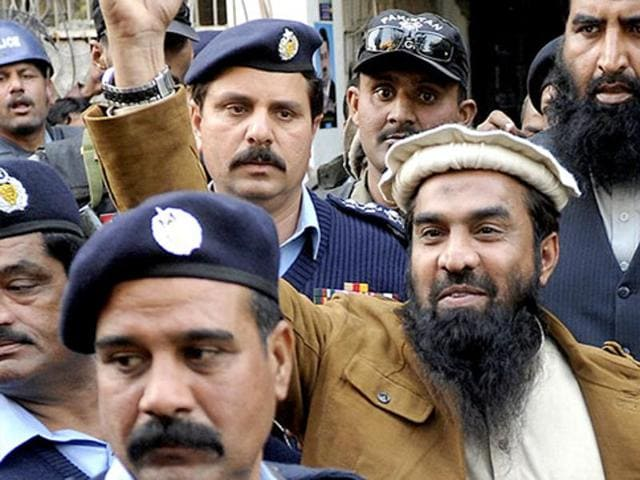 Zaki ur Rahman Lakhvi raises his fist at Islamabad high court. Pakistan will get tought with banned outfits and organisations.