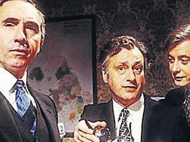 A scene from Britain's iconic political television series 'Yes Minister', which was aired in the 1980s.