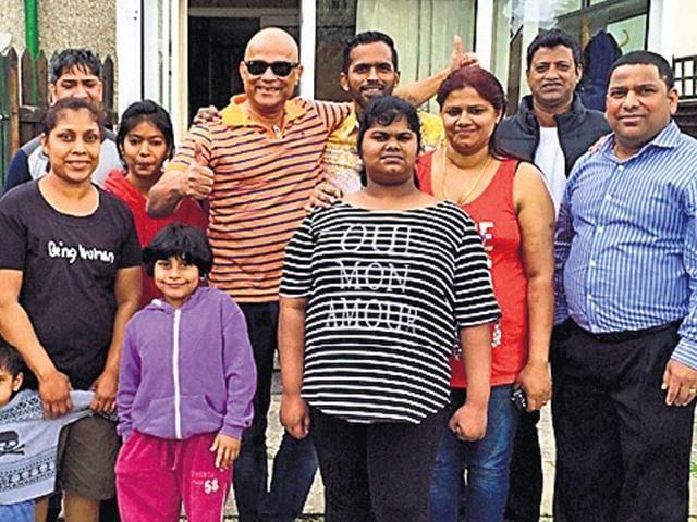 A Goan family in Swindon.(HT Photo)
