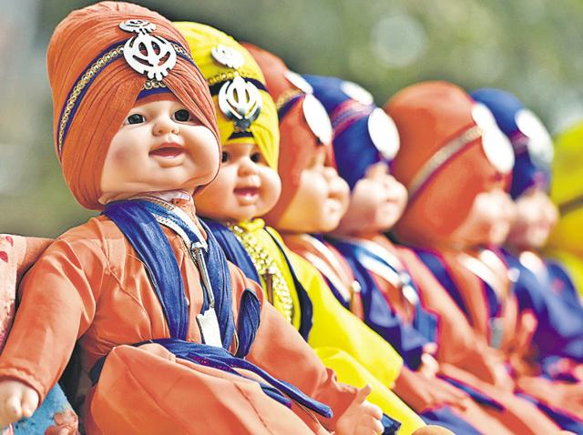 Their prices range from Rs 300 to Rs 650. The toys show boys dressed up as turbaned nihangs or schoolgoing children wearing the 'patka'. On an average, each vendor is selling around 30 toys a day.