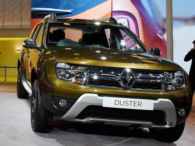 CEO and MD of Renault India, Sumit Sawhney launching the new Duster at Delhi Auto Expo 2016 in Greater Noida on Feb 3, 2016.