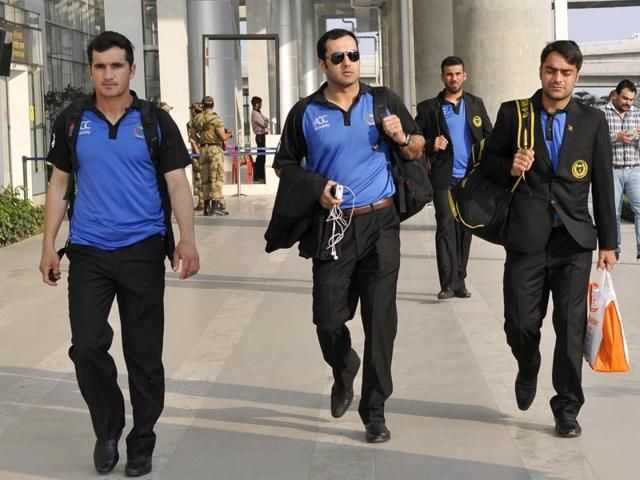 Afghanistan cricket team arrived in Chandigarh on Monday.