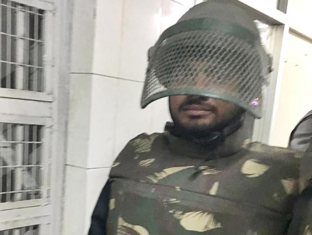 Bullet-proof jacket, baton in hand: When Kanhaiya turned cop briefly