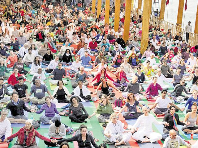 People from almost 70 countries participated in the International Yoga festival in Rishikesh.