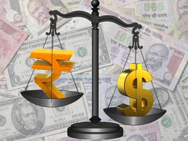The rupee had logged this year's biggest single-day gain of 57 paise to close at a nearly three-week high of 67.85 in Tuesday's session.
