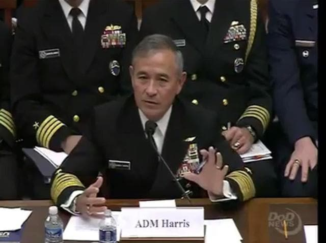 Admiral Harry B Harris, the US Pacific Command chief, said that the four countries should be involved in a security dialogue focussing on freedom of navigation in international waters.