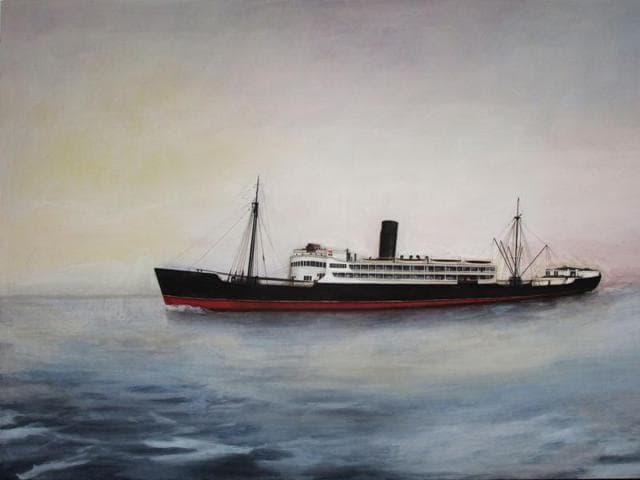 The SS Salween, on board which Desmond Lazaro's parents travelled