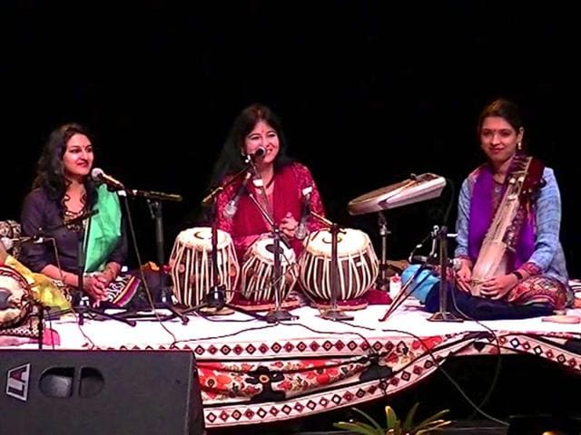 Stree Shakti, the all-girls classical band opened rockstar Sting's 1999 concert at the WOMAD Festical.