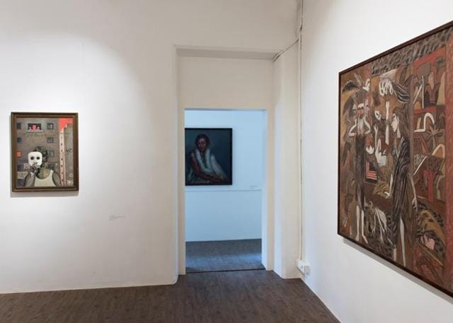 The space features modern and contemporary artwork by artists such as MF Husain and Atul Dodiya