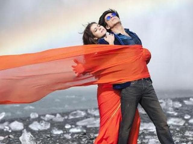 Shah Rukh Khan and Kajol in Dilwale.