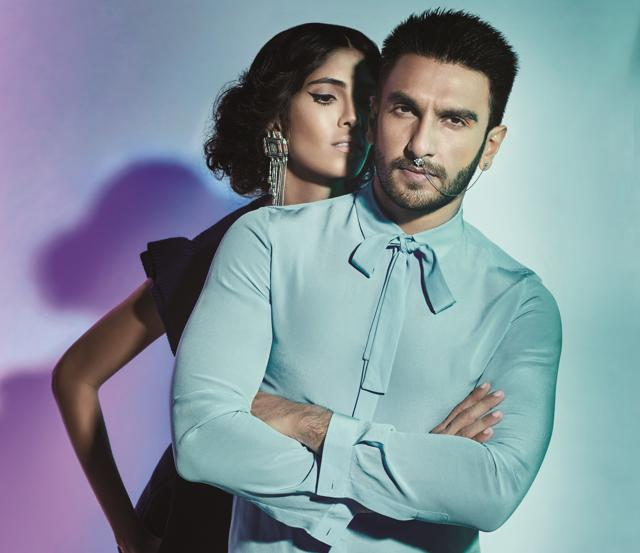 Ranveer Singh wearing a nose ring on the cover of L'Officiel India