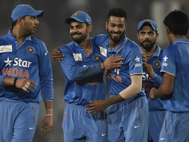 Virat Kohli acknowledges the crowd after scoring fifty runs during the Asia Cup Twenty20 against Sri Lanka.