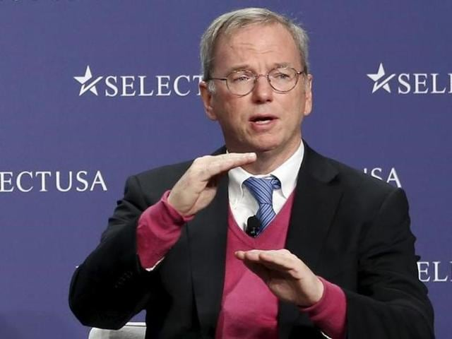 Former Google Executive Chairman Eric Schmidt also said he saw the group looking for ways to use new technologies to solve new and emerging problems.