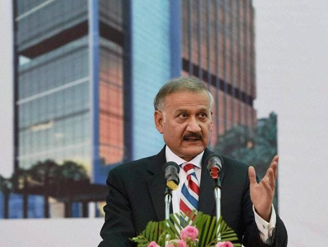 CBI director Anil Sinha delivers a speech in Mumbai.
