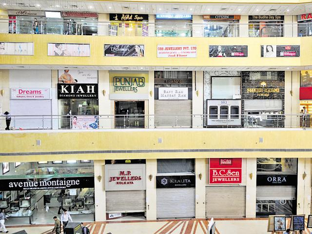 All outlets in Gold Souk — the only mall in NCR with more than 75 jewellery shops — were shut on Wednesday.
