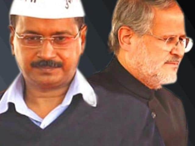 A combination photo of Delhi chief minister Arvind Kejriwal and Lt Governor Najeeb Jung.