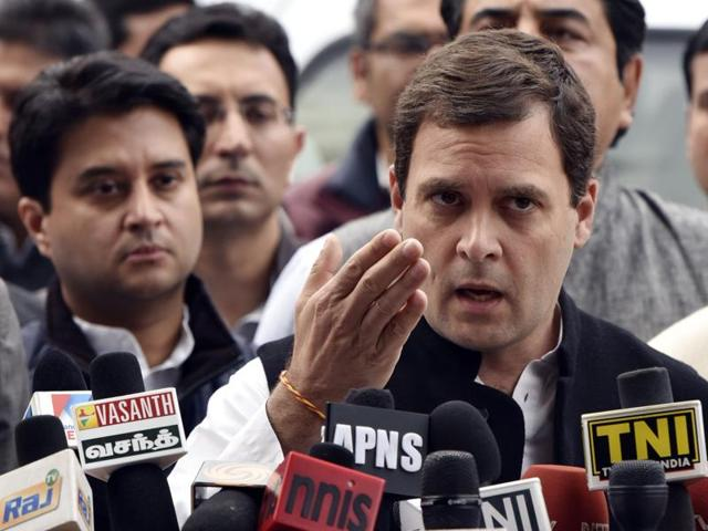 """Congress vice president Rahul Gandhi urged Prime Minister Narendra Modi on Thursday to withdraw a proposal to tax retirement savings, calling the move """"patently unfair""""."""