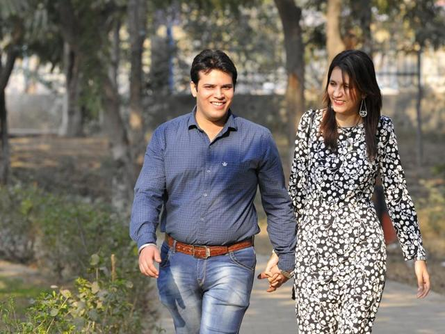 It's a sweet and simple romance for this campus couple
