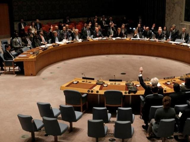 The United Nations Security Council votes to approve a resolution that would dramatically tighten existing restrictions on North Korea at the United Nations Headquarters in New York.