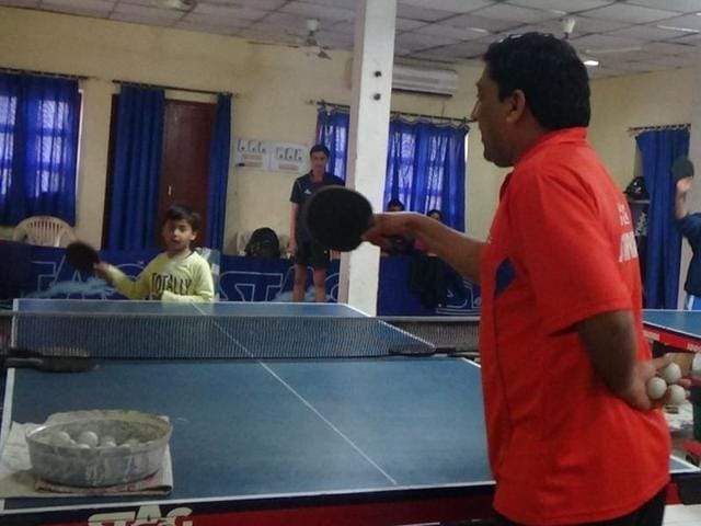 Yogendra Agarwal, 42, a former UP table tennis player and employee of Northern Railway, has been producing quality players for some time now.