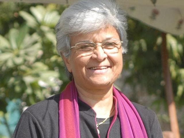 Interestingly, the chant originated as a feminist number against patriarchy. It was evolved and popularised by well-known feminist Kamla Bhasin in the women's movement all over south Asia.(HT Photo)