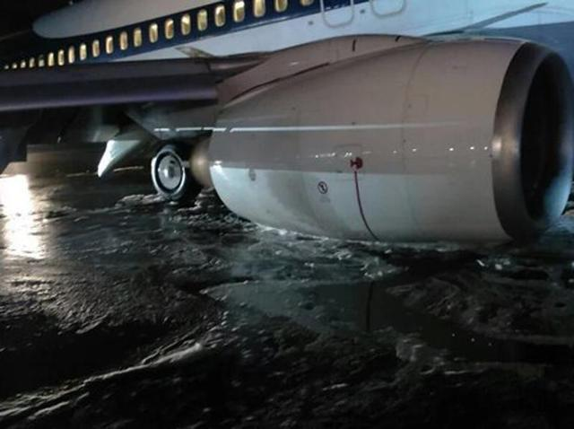 Jet Airways plane's landing gear collapses, close shave for passengers