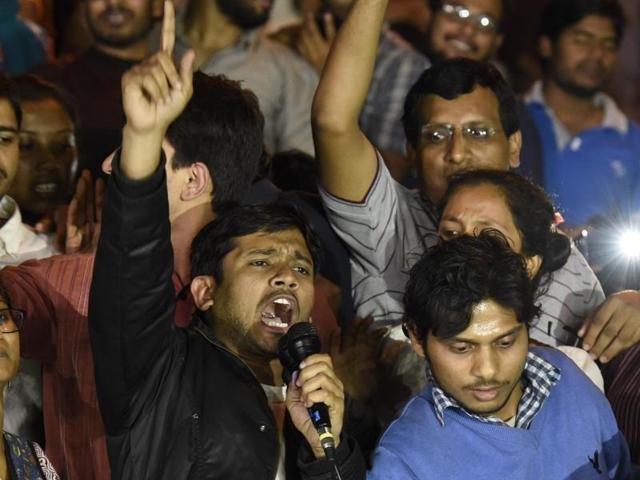 Kanhaiya Kumar's hour-long speech outside JNU's administrative block was beamed live on prime-time television and #KanhaiyaKumar trended on Twitter.