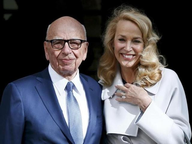 Rupert Murdoch marries model-actress Jerry Hall in London