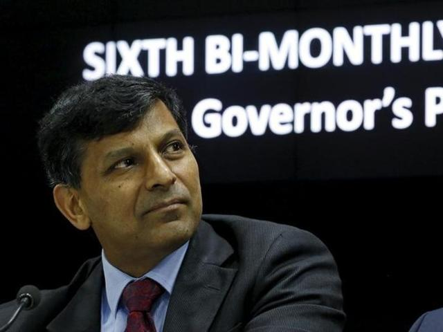 The Reserve Bank of India (RBI) Governor Raghuram Rajan listens to a question during a news conference after the bi-monthly monetary policy review in Mumbai.