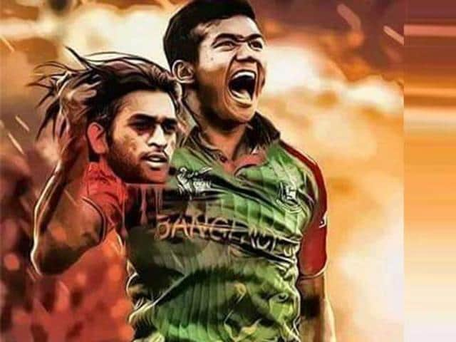 The controversial photo of Taskin Ahmed holding the severed head of MSDhoni.