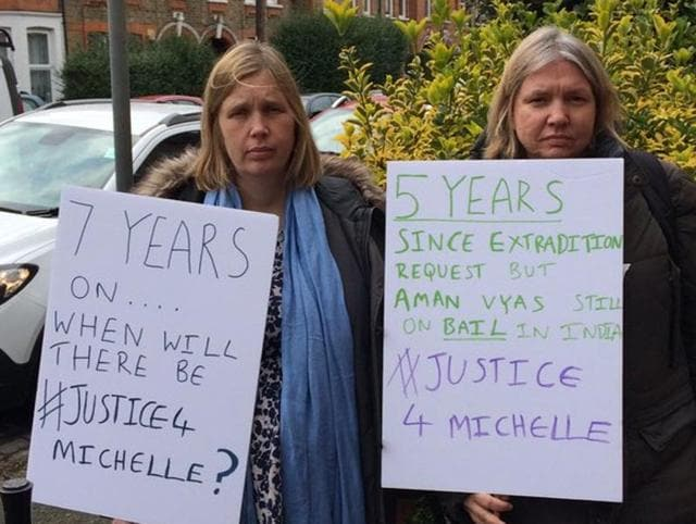 Londoners marched on Saturday seeking faster extradition of Aman Vyas, the suspected killer of Michelle Samaraweera.