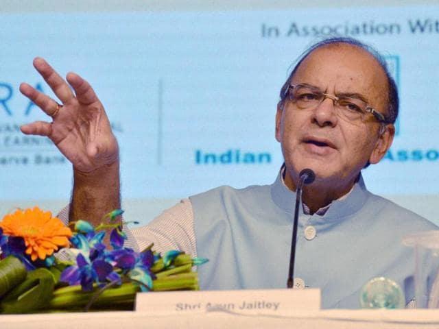 Union finance minister Arun Jaitley speaks during a seminar in Gurgaon.