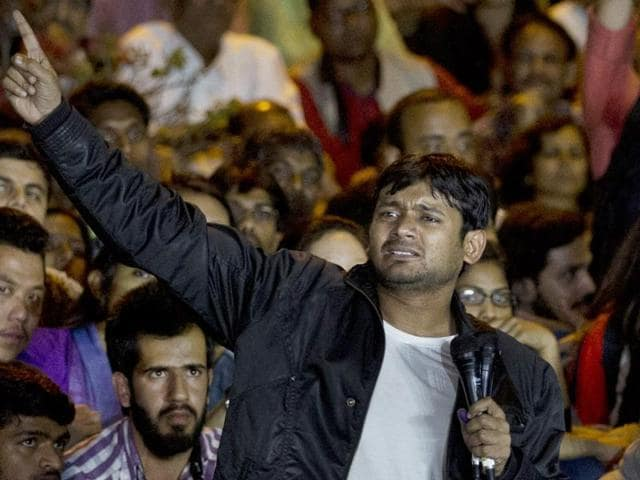 JNU Students' Union leader Kanhaiya Kumar met his 'comrades' at an undisclosed location on the campus before his speech on Thursday night.