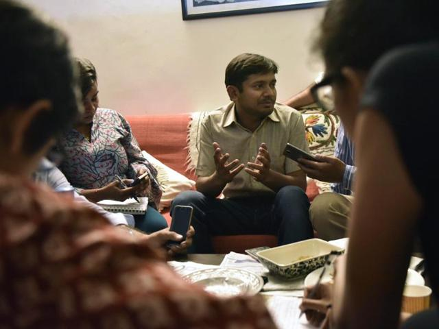 BJYM leader expelled for offering prize for cutting Kanhaiya's tongue