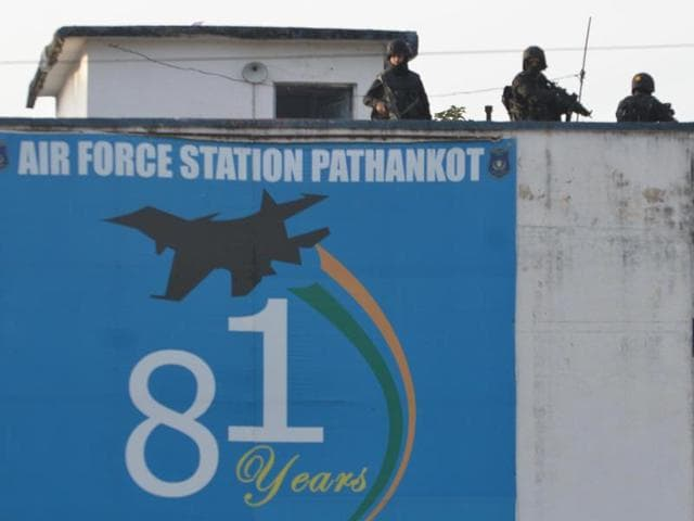 File photo of Indian Army personnel standing guard at the air force base at Pathankot during search operation, in Punjab, India on Tuesday, January 06, 2016.