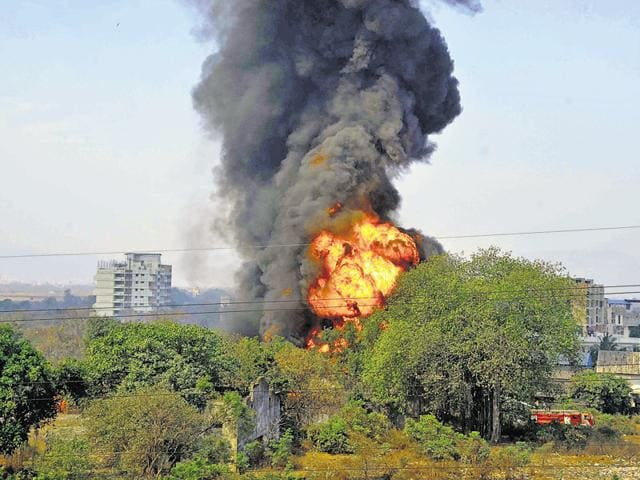 Loud explosions originating from the company, located near Sandap village on Manpada Road, could be heard by the nearby residents.