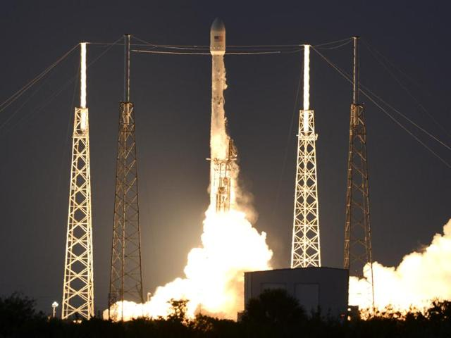 A SpaceX Falcon 9 rocket lifts off from Cape Canaveral Air Force station on Friday.