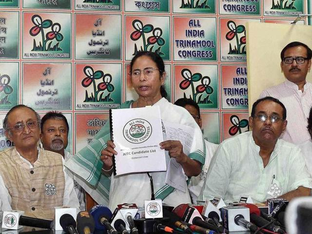 File Photo of West Bengal chief minister Mamata Banerjee and Trinamool leader Mukul Roy.