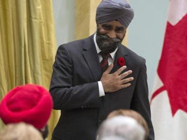 Canada's first Sikh defence minister Harjit Sajjan